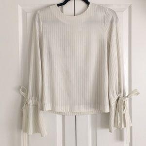 Pin Stripe Long Sleeve Blouse